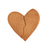 Heart shaped cookie broken Stock Photos