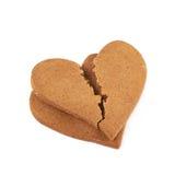 Heart shaped cookie broken Stock Image