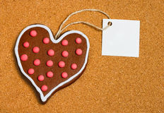 Heart shaped cookie Royalty Free Stock Photo