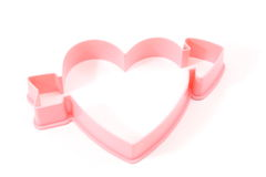Heart Shaped Cookie cutter. On a white background Royalty Free Stock Images