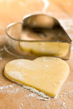 Heart-shaped cookie cutter Royalty Free Stock Photos
