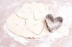 Heart shaped cookie cutter Stock Image