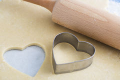 Heart Shaped Cookie Cutter Royalty Free Stock Photography