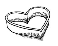 Heart shaped cookie-cutter Royalty Free Stock Images