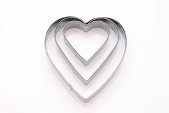 Heart shaped cookie cutter. On white background Stock Images
