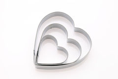 Heart shaped cookie cutter Stock Photos