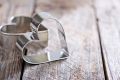 Heart shaped cookie cutter Royalty Free Stock Image