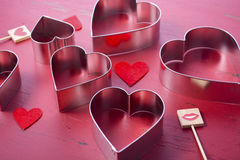 Heart Shaped Cookie Cutters Stock Photos