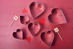 Heart Shaped Cookie Cutters Royalty Free Stock Images