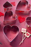 Heart Shaped Cookie Cutters Stock Image