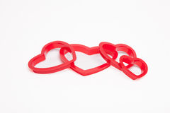 Heart Shaped Cookie Cutters. Stock Image