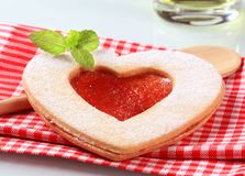 Heart shaped  cookie Royalty Free Stock Images