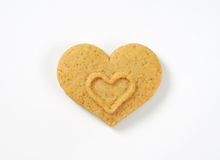 Heart-shaped cookie Royalty Free Stock Photography