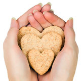 Heart-shaped cookie Stock Image