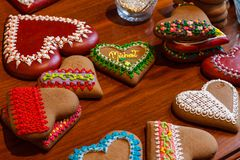 Heart Shaped Cookies Stock Photo
