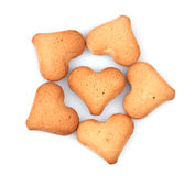 Heart-shaped cookies Royalty Free Stock Photography