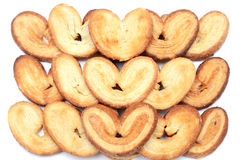 Heart-shaped cookies Royalty Free Stock Photos