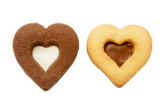 Heart-shaped cookies Stock Image
