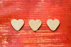 Heart shaped cookies royalty free stock image