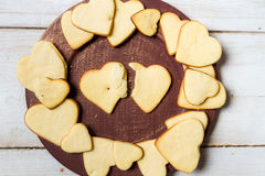Heart-shaped cookies arranged no. 11 stock photo