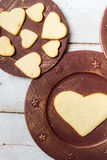 Heart-shaped cookies arranged no. 4 Stock Photo