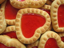 Heart shaped cookies background Royalty Free Stock Photos