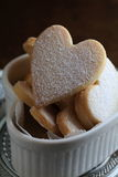 Heart shaped cookies. With black background Royalty Free Stock Photos