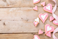 Heart shaped cookies. Royalty Free Stock Image