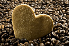 Heart shaped cookies and coffee Royalty Free Stock Images