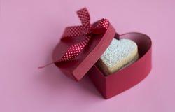 Heart shaped cookies . Heart shaped cookies in a gift box Royalty Free Stock Image