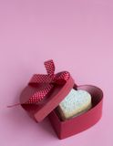 Heart shaped cookies . Heart shaped cookies in a gift box Royalty Free Stock Photo