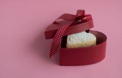 Heart shaped cookies . Heart shaped cookies in a gift box Royalty Free Stock Photography