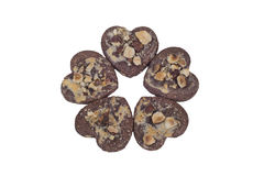 Heart Shaped Cookies Royalty Free Stock Photos