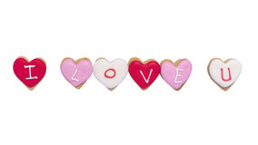 Heart shaped cookies Stock Photos
