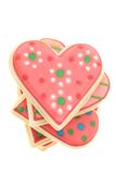 Heart shaped cookies. Isolated on white Stock Photo