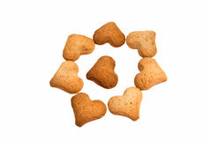 Heart-shaped cookies Royalty Free Stock Images
