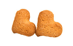 Heart-shaped cookies Stock Photos