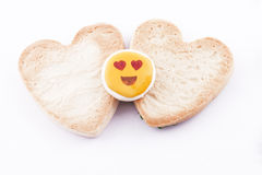 Heart-shaped cookies Royalty Free Stock Image