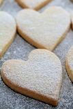 Heart shaped cookies. With powder sugar Stock Photo