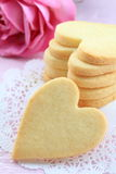 Heart shaped cookies. On race paper Stock Photo