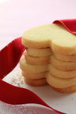 Heart shaped cookies. With red ribbon Royalty Free Stock Images