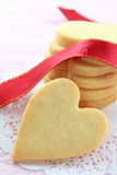 Heart shaped cookies. With red ribbon Royalty Free Stock Image
