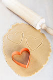 Heart-shaped cookies Stock Photo
