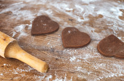 Heart shaped cookies. Royalty Free Stock Photos