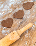 Heart shaped cookies. Stock Photos