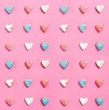 Heart-shaped cookies Stock Images