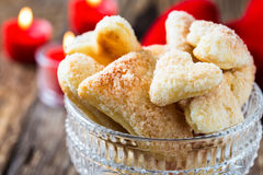Heart shaped. Cookies. Valentine cookies royalty free stock photography