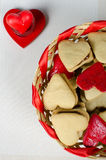 Heart shaped cookies for Valentine's day Royalty Free Stock Images