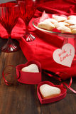 Heart shaped cookies for valentine's day and Card Royalty Free Stock Photography