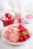 Heart shaped cookies for Valentines day Royalty Free Stock Photos